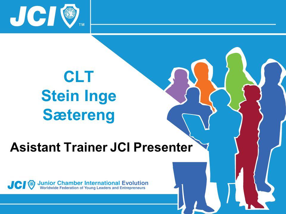 CLT Stein Inge Sætereng Asistant Trainer JCI Presenter