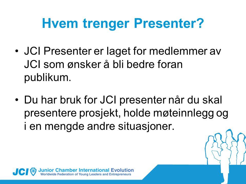 Hvem trenger Presenter.