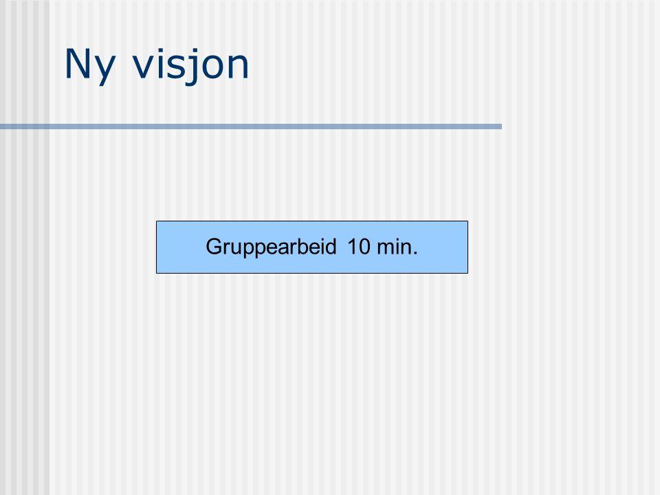 Ny visjon Gruppearbeid 10 min.