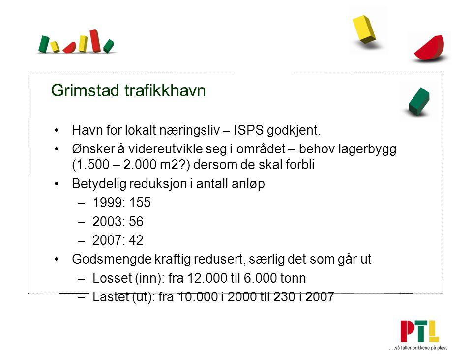 Grimstad trafikkhavn Havn for lokalt næringsliv – ISPS godkjent.