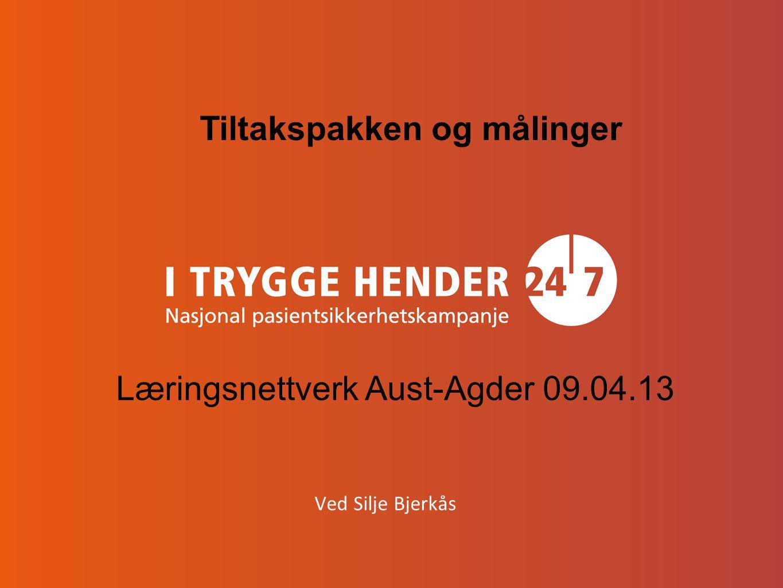 Ved Silje Bjerkås Tiltakspakken og målinger Læringsnettverk Aust-Agder 09.04.13