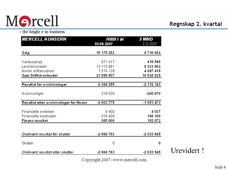 Copyright 2007 - www.mercell.com Nøkkeltall Norden 2.