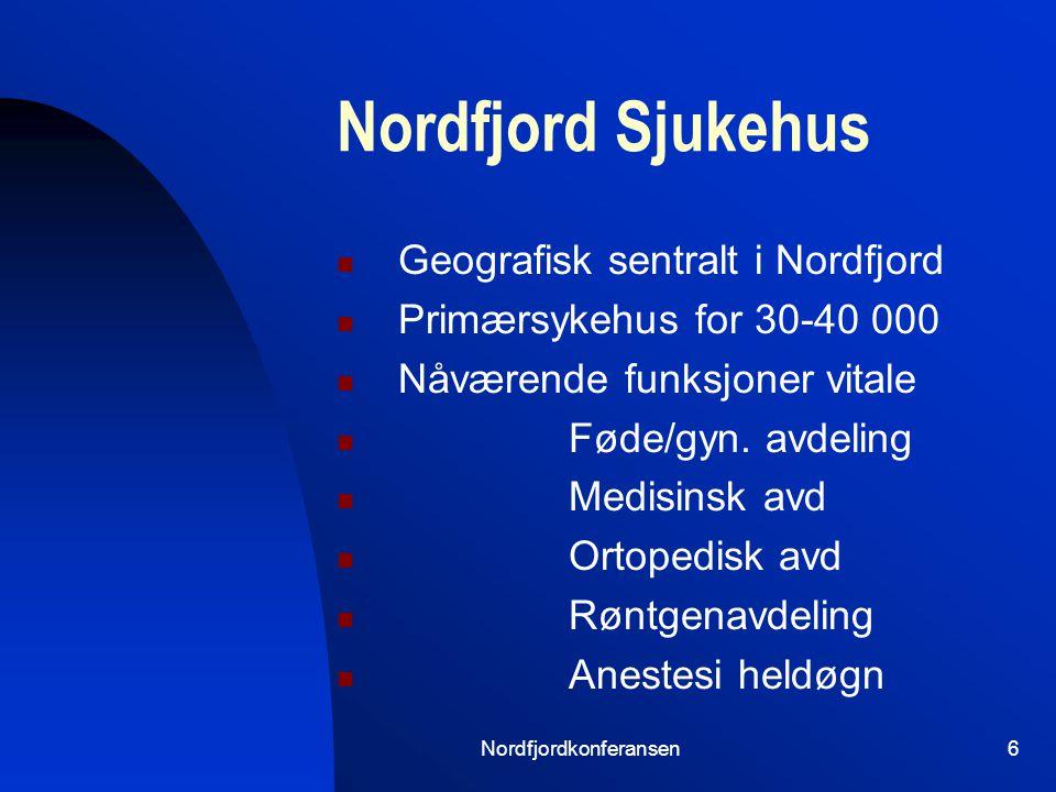 Nordfjordkonferansen5 100 000 mennesker 150 km begge veier Nordfjord Sognefjord Kystlinje / Øyer Vær