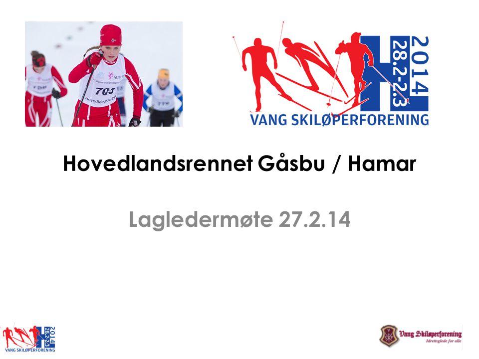 Hovedlandsrennet Gåsbu / Hamar Lagledermøte 27.2.14