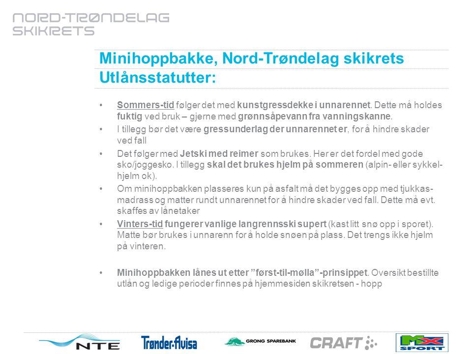 Minihoppbakke, Nord-Trøndelag Skikrets