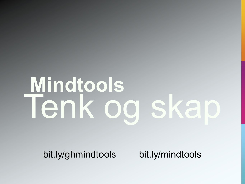 Mindtools Aktiv og kritisk bit.ly/tenkingbit.ly/ghhattie