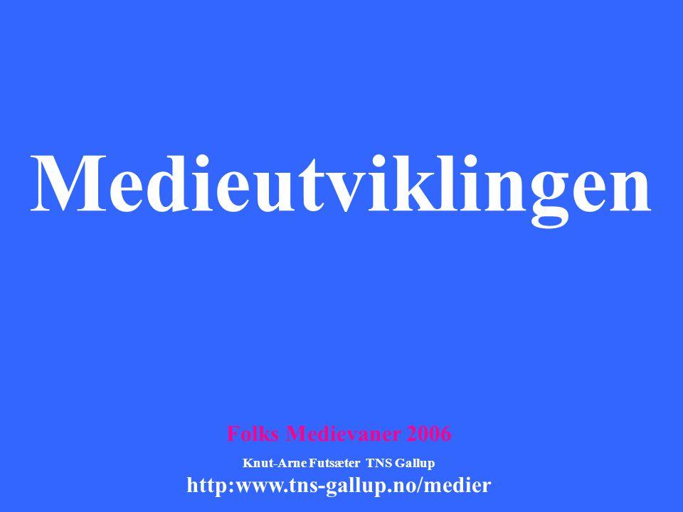 Medieutviklingen Folks Medievaner 2006 Knut-Arne Futsæter TNS Gallup http:www.tns-gallup.no/medier