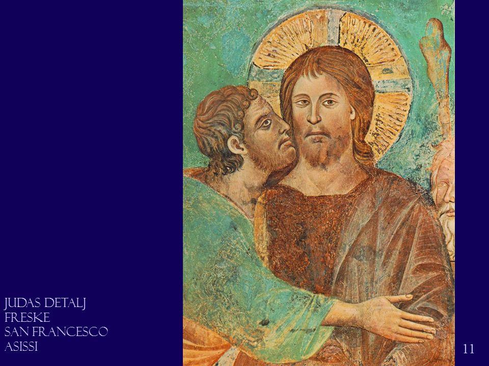 Judas 11 Judas Detalj Freske San francesco asissi