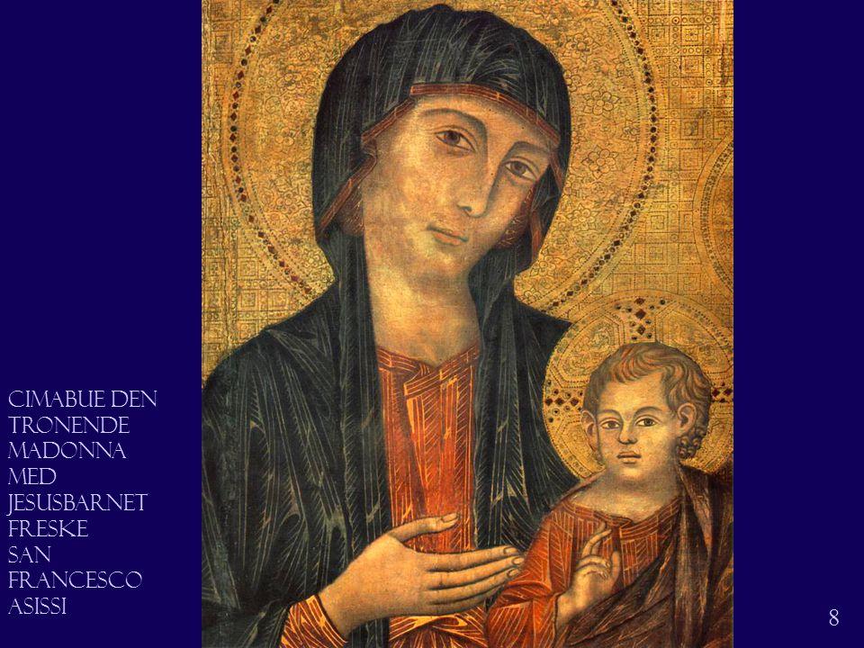 Madonna 9 Madonna. Detalj. Freske San Francesco Asissi