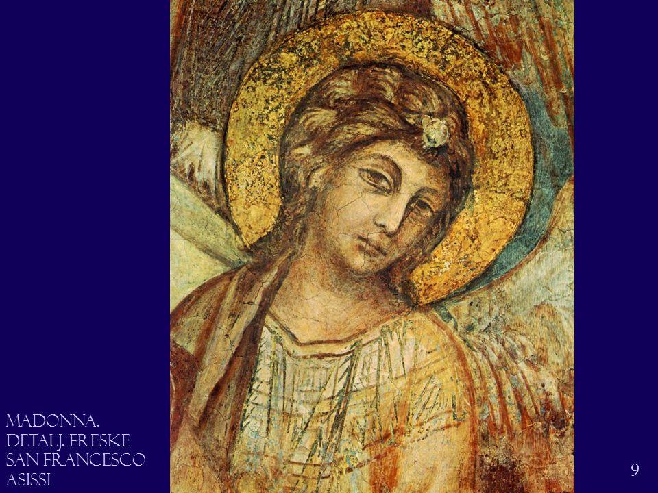 Madonna på tronen 10 Cimabue den tronende madonna Med Jesusbarnet Freske San Francesco Asissi