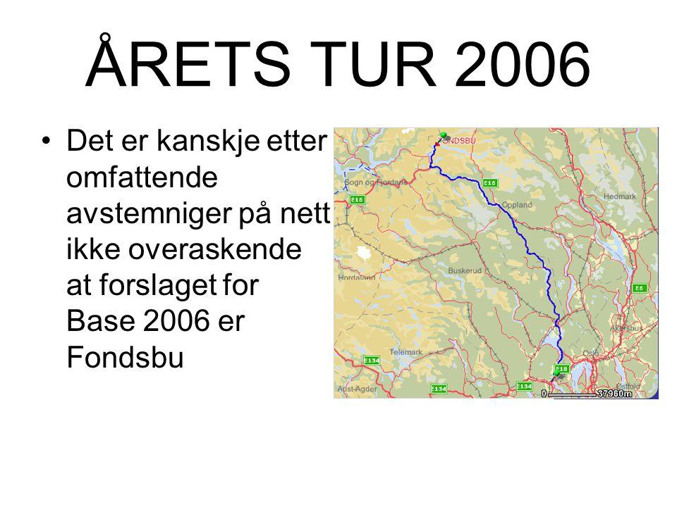 Forslag ÅRETS TUR 2006 ….for menn som vil no` (igjen...)