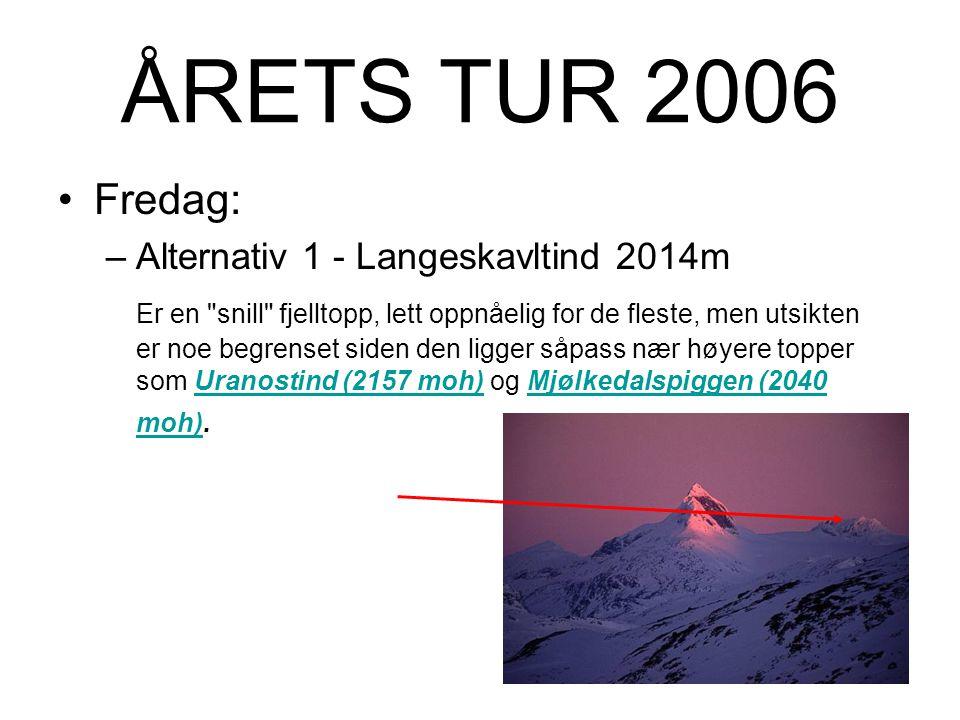 ÅRETS TUR 2006 Base 2006 er Fondsbu