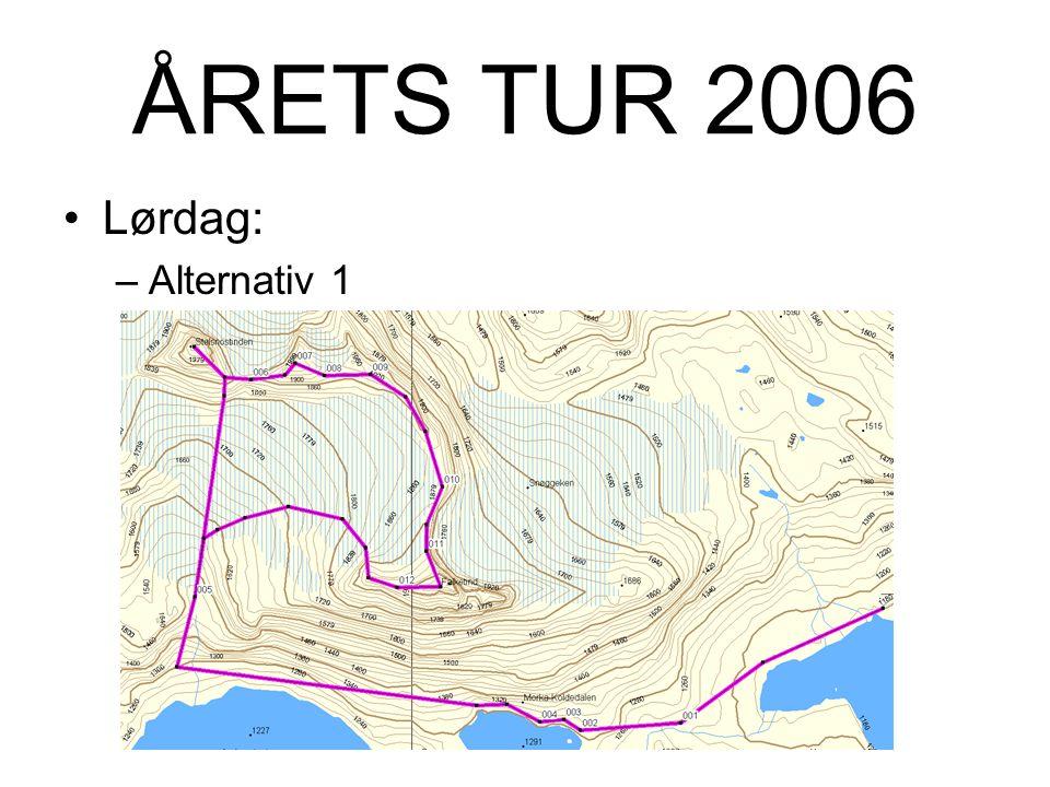 ÅRETS TUR 2006 Lørdag: –Alternativ 1: Tur med fjellfører til: Falketind - 2067m Stølsnostinden – 2074m.