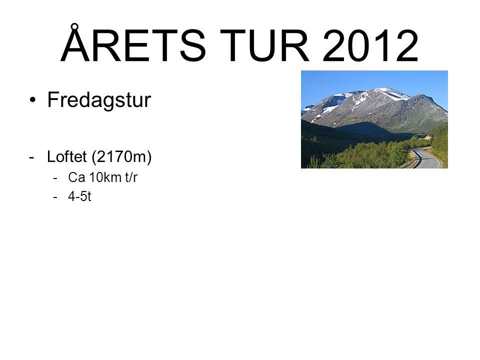 ÅRETS TUR 2012 Forslag med utgangspunkt Krossbu Over tyve 2000- meterstopper ligger i området.
