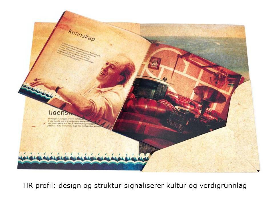 HR profil: design og struktur signaliserer kultur og verdigrunnlag