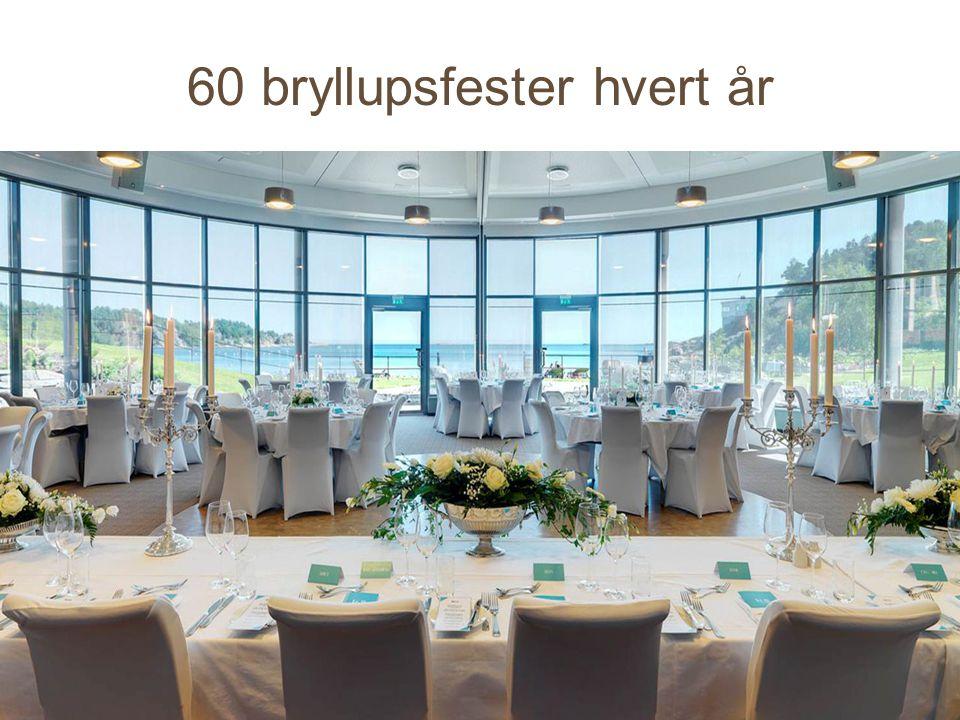 60 bryllupsfester hvert år