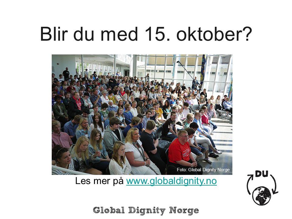 Blir du med 15.oktober.