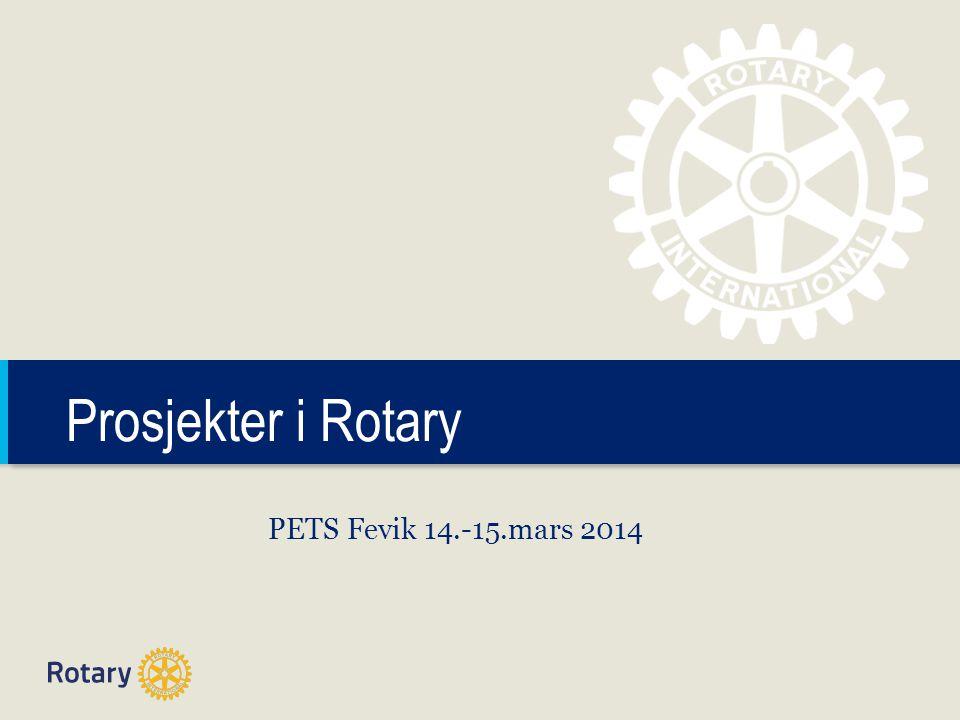 TITLE Prosjekter i Rotary PETS Fevik 14.-15.mars 2014