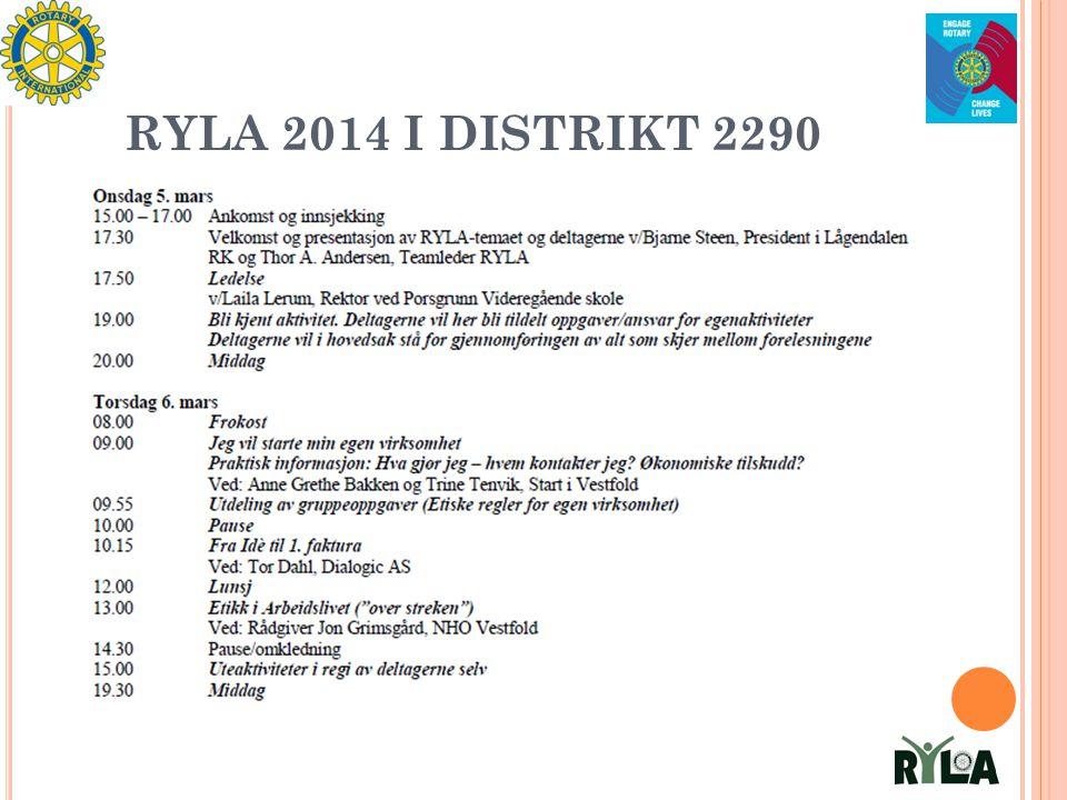 RYLA 2014 I DISTRIKT 2290