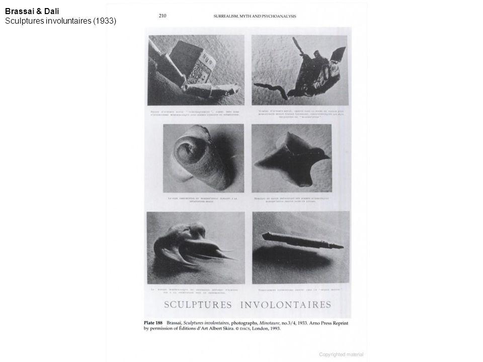 Brassai & Dali Sculptures involuntaires (1933)
