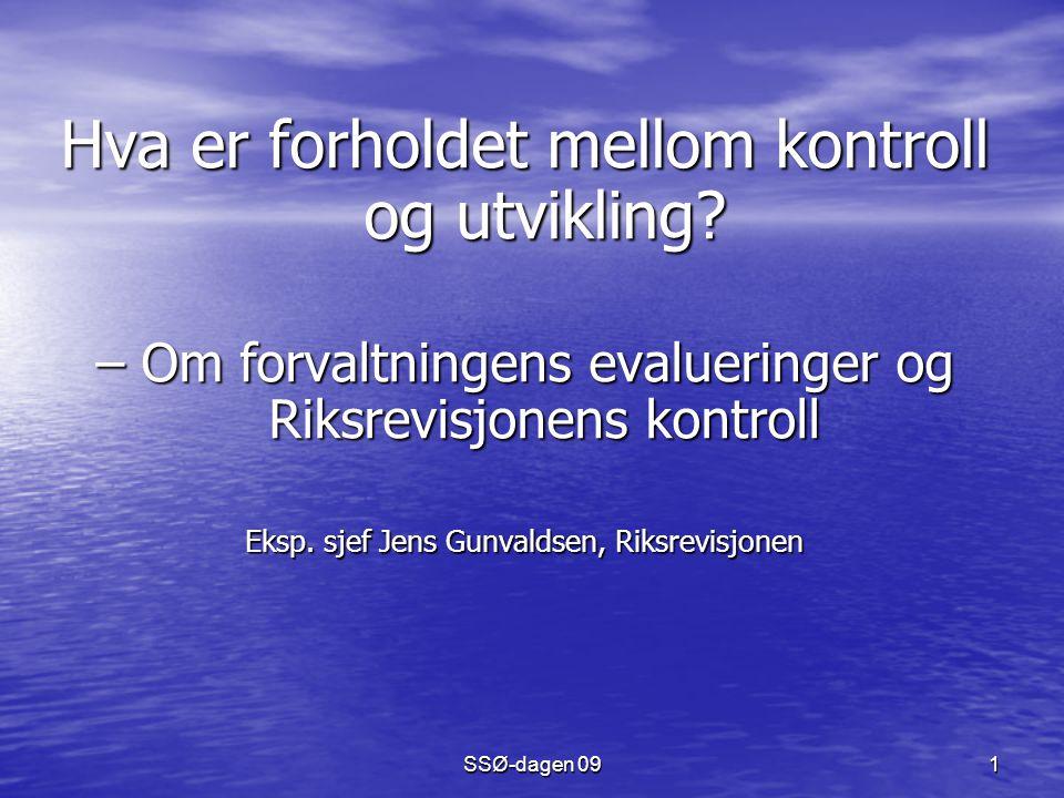 SSØ-dagen 091 Hva er forholdet mellom kontroll og utvikling.