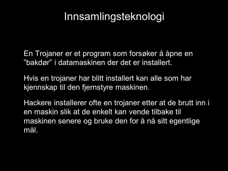 """En Trojaner er et program som forsøker å åpne en """"bakdør"""" i datamaskinen der det er installert. Hvis en trojaner har blitt installert kan alle som har"""