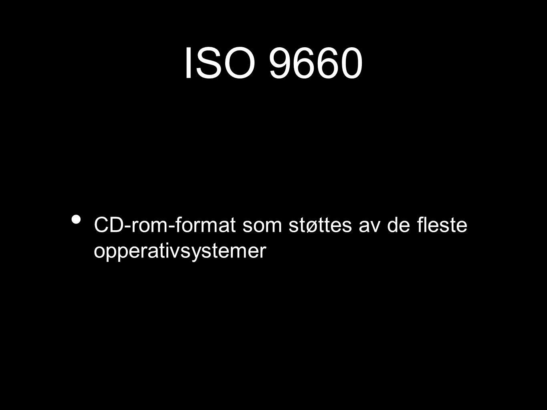 ISO 9660 CD-rom-format som støttes av de fleste opperativsystemer