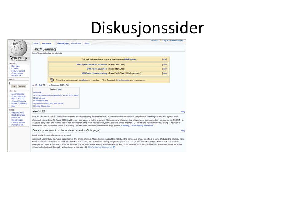 Diskusjonssider