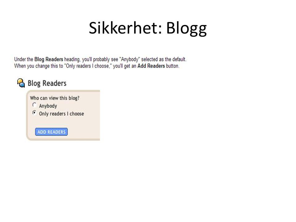 Sikkerhet: Blogg
