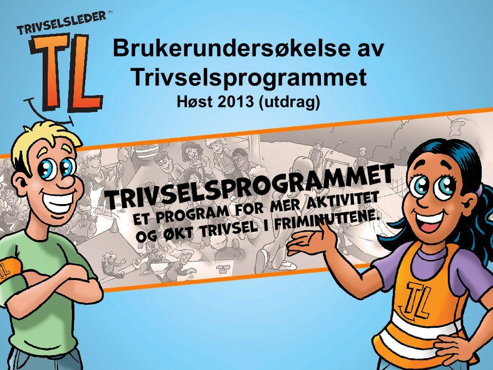 Brukerundersøkelse av Trivselsprogrammet Høst 2013 (utdrag)