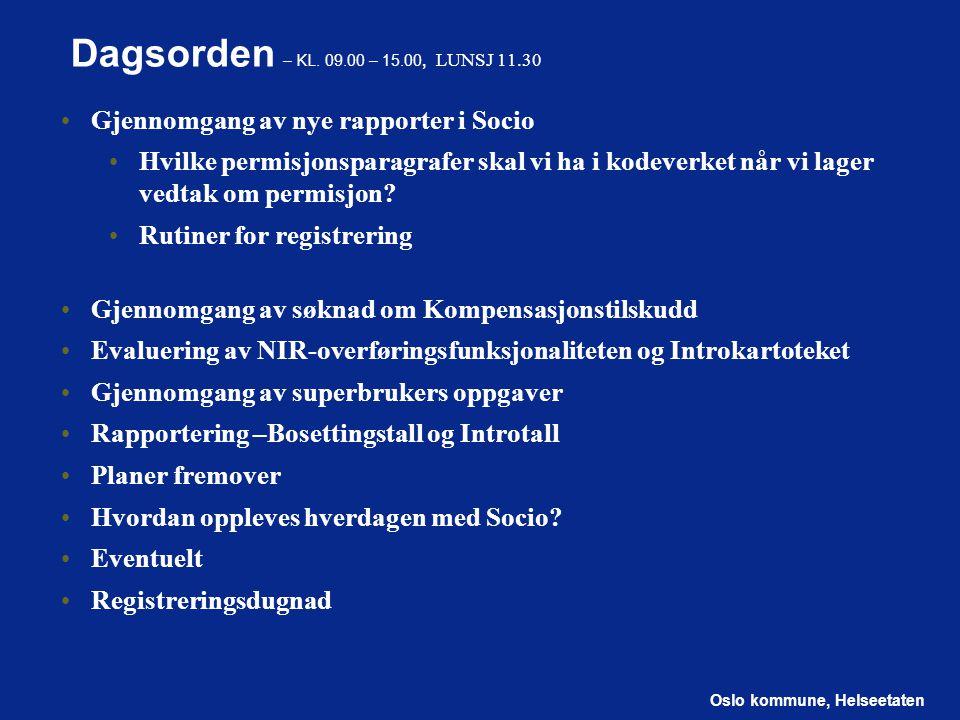 Oslo kommune, Helseetaten Introkartoteket Hva er bra? Hva kunne vært bedre?