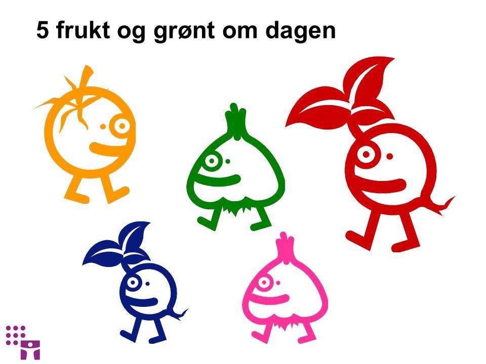 5 frukt og grønt om dagen