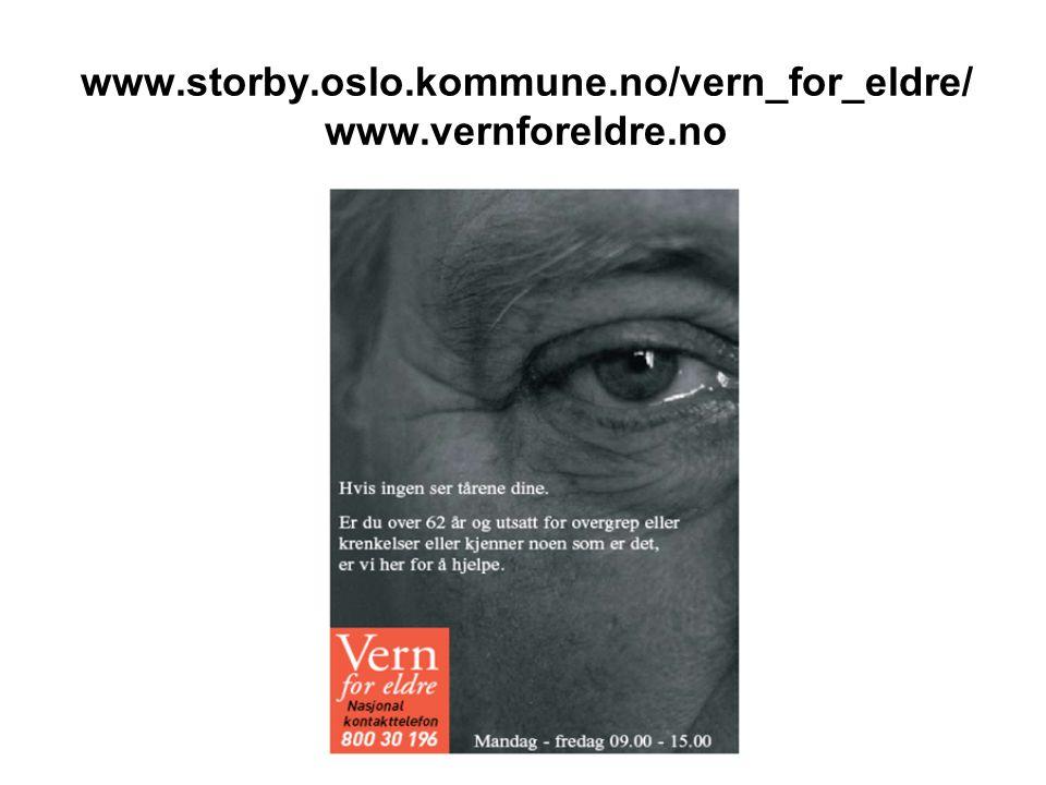 www.storby.oslo.kommune.no/vern_for_eldre/ www.vernforeldre.no
