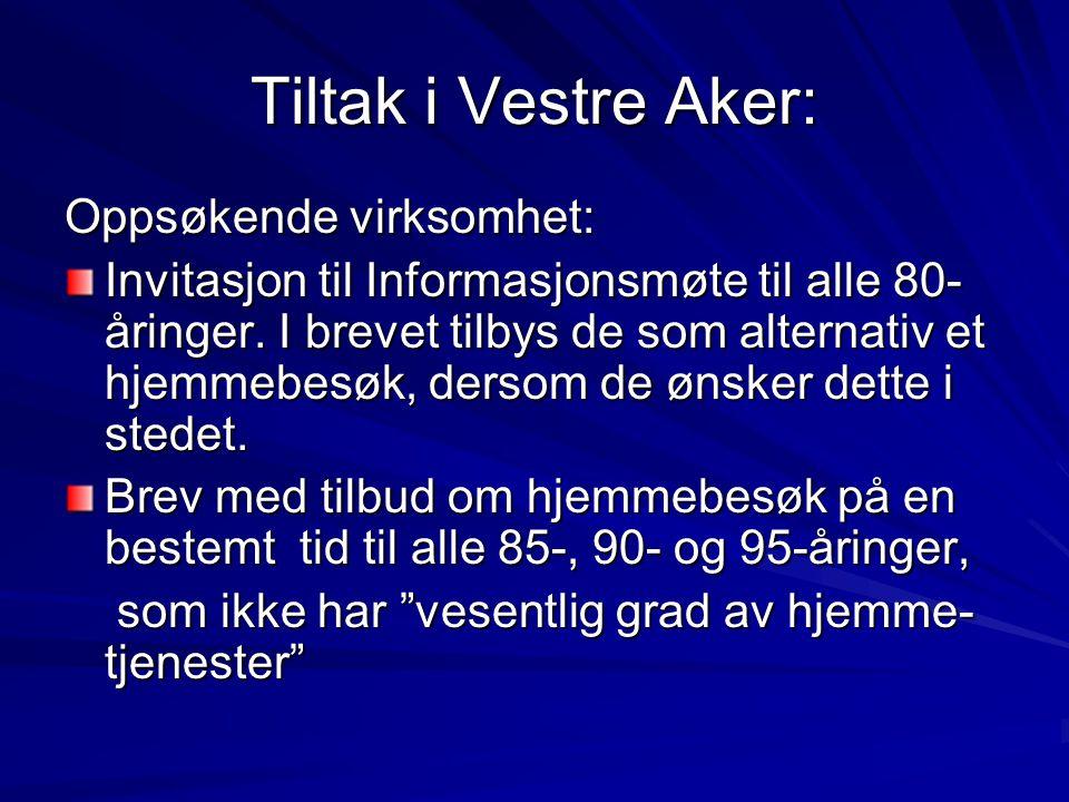 Tiltak i Vestre Aker: Oppsøkende virksomhet: Invitasjon til Informasjonsmøte til alle 80- åringer.
