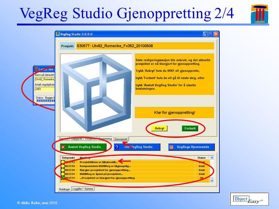© Aleks Rokic, mai 2010 VegReg Studio Gjenoppretting 2/4