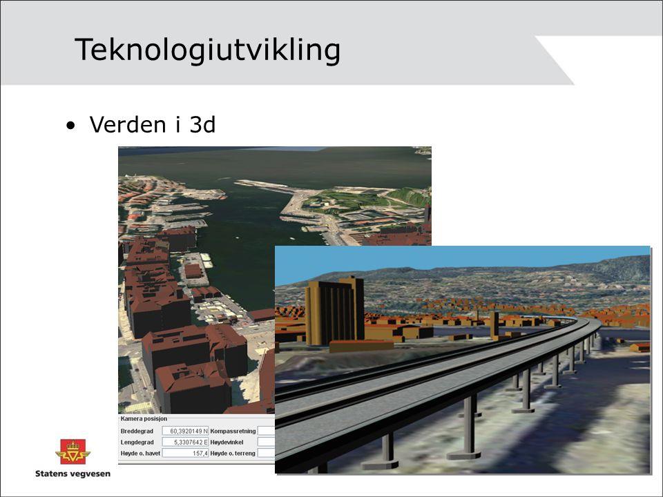 Verden i 3d Teknologiutvikling