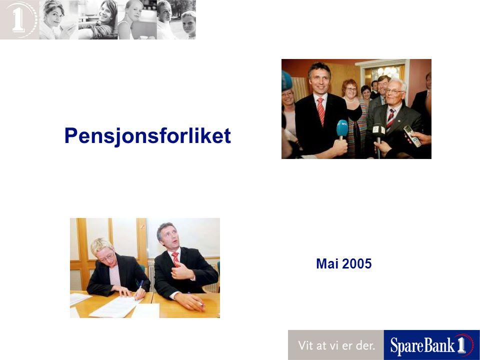 Pensjonsforliket Mai 2005