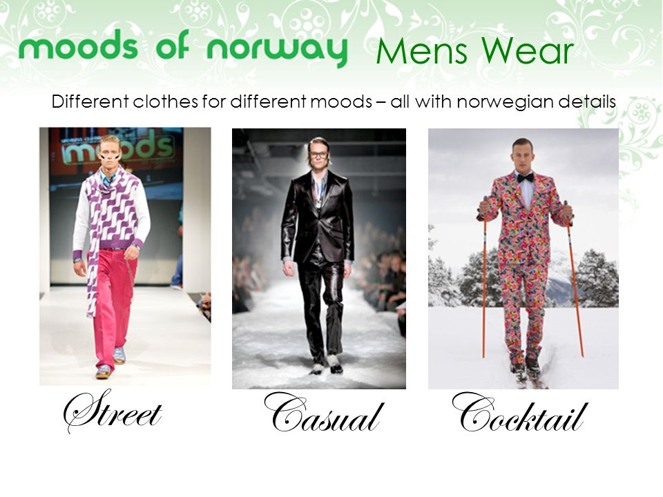Mens Wear Street CasualCocktail Different clothes for different moods – all with norwegian details