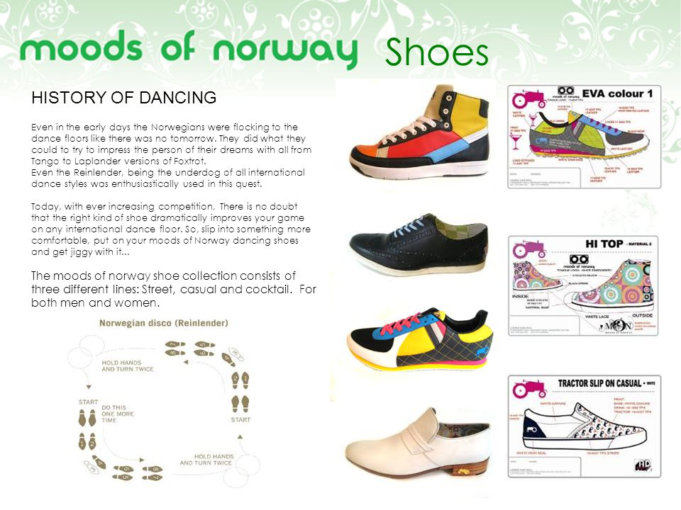 Shoes HISTORY OF DANCING Even in the early days the Norwegians were flocking to the dance floors like there was no tomorrow.