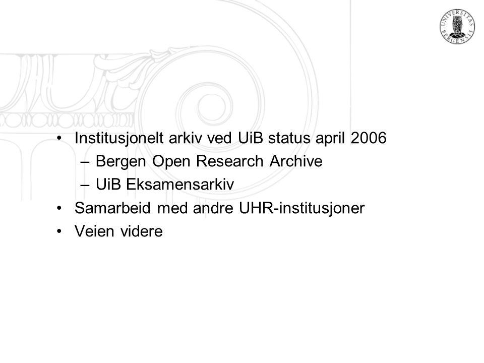 Hva er et institusjonelt arkiv.