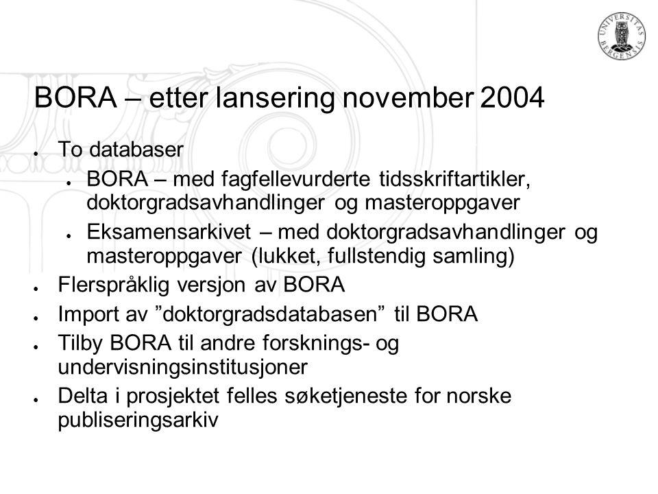 Status BORA april 2006 15.