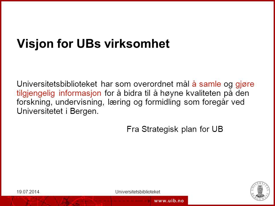 I dag Bakteppe om UB De ulike utfordringene Styring og ledelse Oppsummering