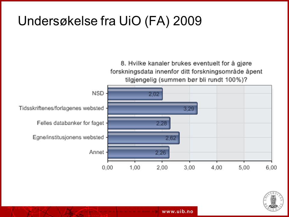 Undersøkelse fra UiO (FA) 2009