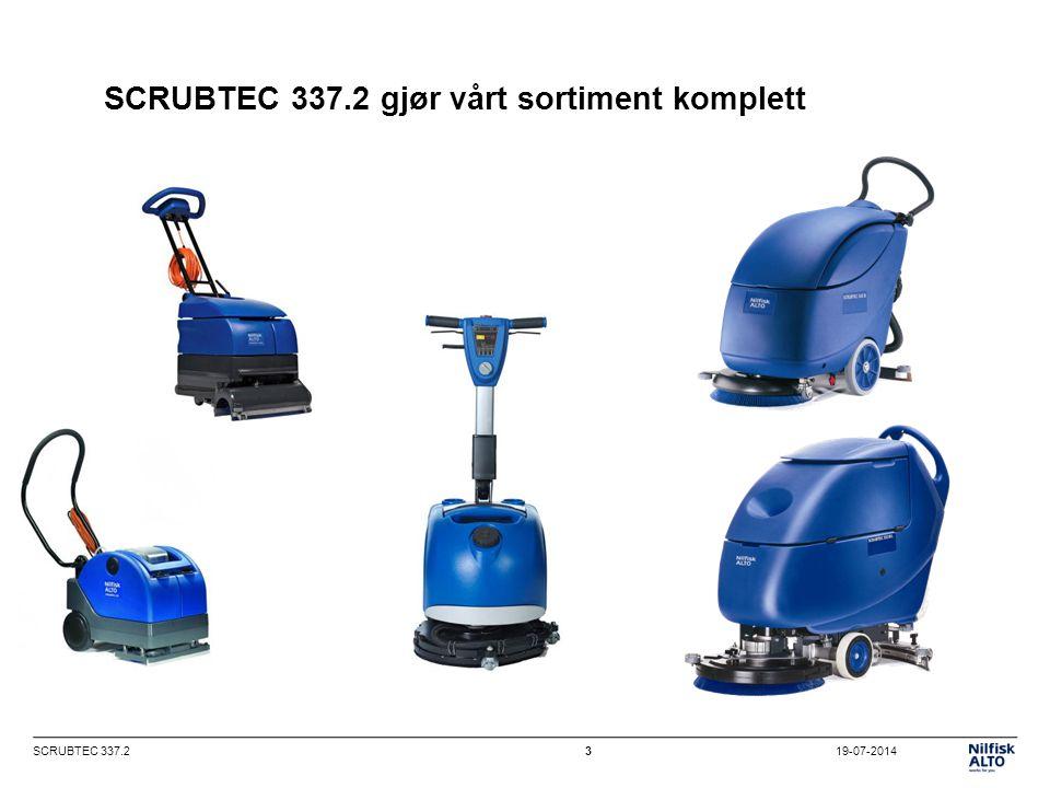 19-07-2014SCRUBTEC 337.23 SCRUBTEC 337.2 gjør vårt sortiment komplett