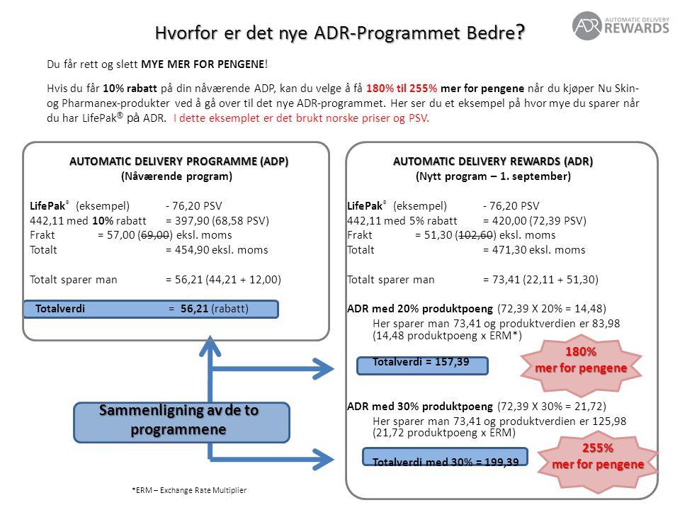 AUTOMATIC DELIVERY REWARDS (ADR) (nytt program – 1.