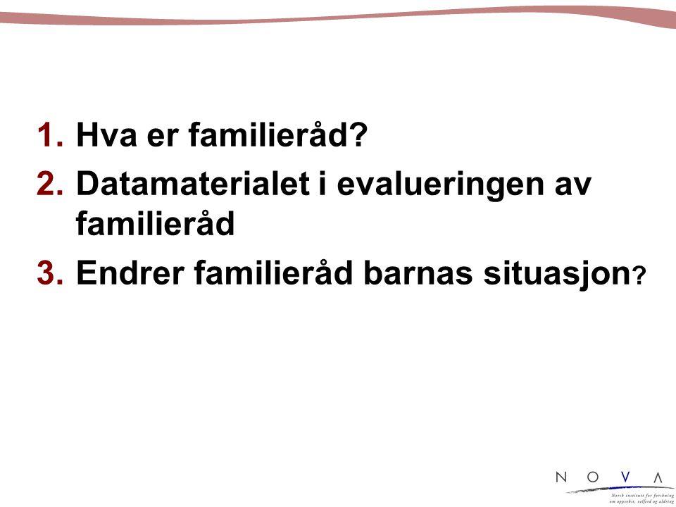 1.Hva er familieråd.