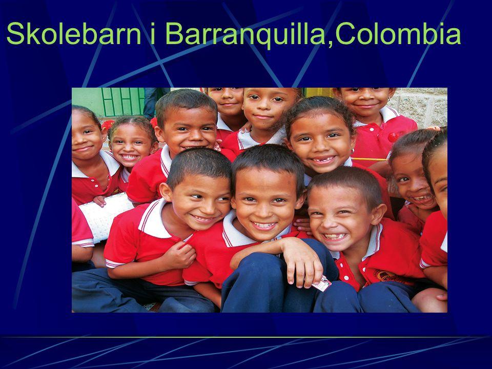 Skolebarn i Barranquilla,Colombia
