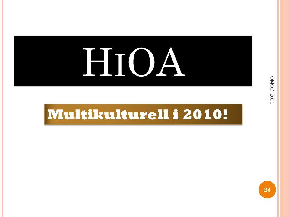 H I OA 24 OMOD 2011 Multikulturell i 2010!