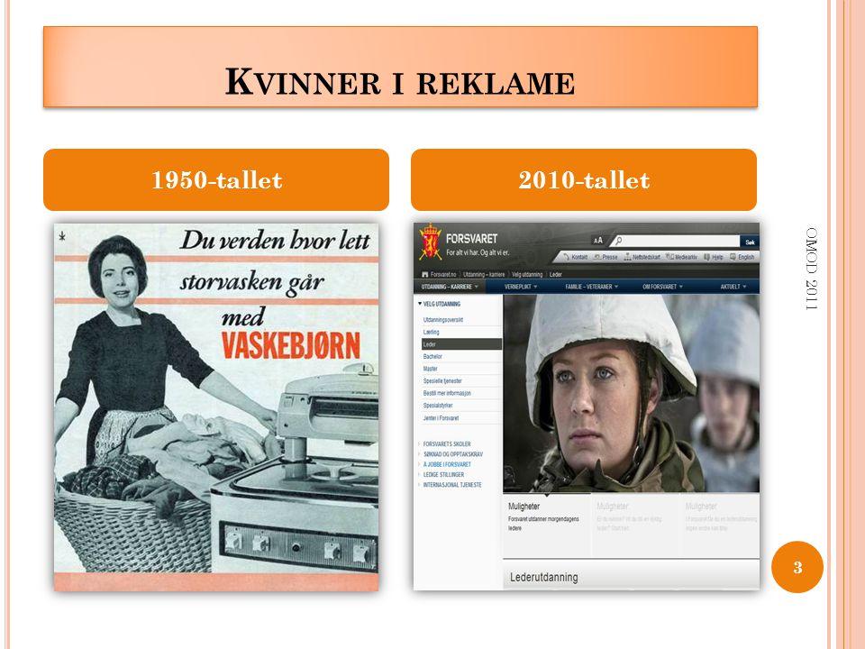 K VINNER I REKLAME OMOD 2011 3 1950-tallet2010-tallet
