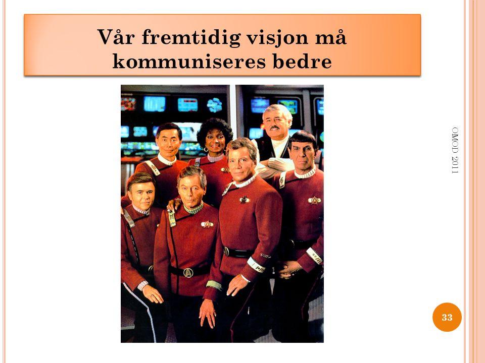 33 OMOD 2011 ___________ __ ______ Vår fremtidig visjon må kommuniseres bedre